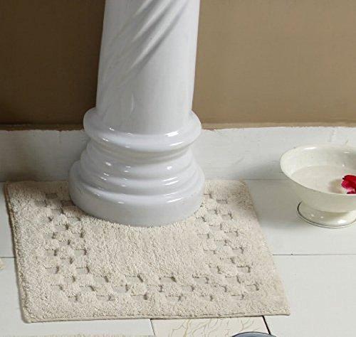 homescapes-bordo-con-motivo-a-quadri-colore-naturale-tappetino-da-bagno-100-cotone-120-g-mq-tappetin