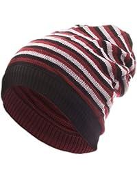 style3 Lässige Slouch Wende-Strickmütze - stylisch oben offen und beidseitig zu tragen