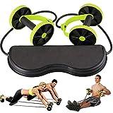 Uphsang Roue Abdominale Roller De Fitness Exercice Multifonctionnel - Puissance Formateur Taille Slimming Exerciseur Hautement élastique, Réglable pour Fitness, Exercices, Musculation
