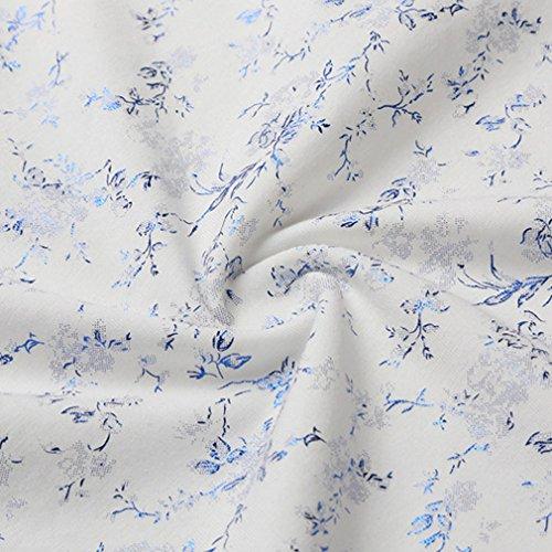 Honghu Herren Longsleeve Casual Slim Fit T-shirts Deep Blue