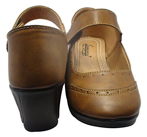 Sammy chaussures de sport à bout rond cove les femmes d 'wedges chaussures Marron