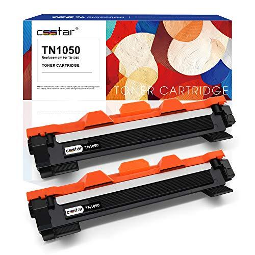 CSSTAR Compatibile Cartuccia di toner per Brother TN1050 TN1030 per HL-1210W HL-1110 MFC-1910W HL-1212W MFC-1810 DCP-1610W DCP-1510 DCP-1612W DCP-1512 Stampante, Nero Ciano Magenta Giallo