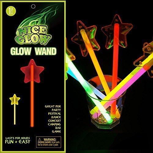 Glow Stick 5teilig 5-Punkt Star & Sticks Light Up Toy Glowing in the Dark Fairy Stick für die Partys Festival Urlaub Weihnachten (Taylor-swift-kostüm)