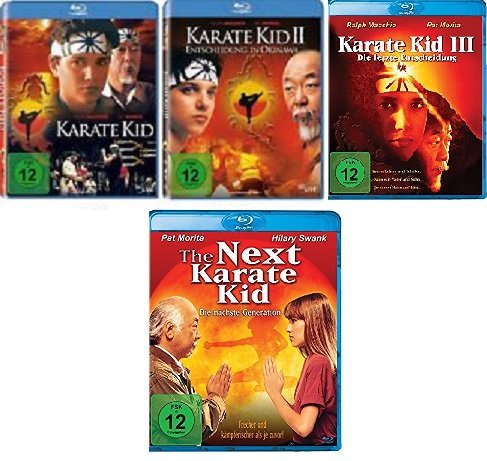 4 Blu-Rays - Karate Kid 1+2+3+The Next Karate Kid im Set - Deutsche Originalware [4 Blu-rays]