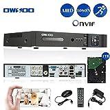OWSOO 4CH Full 1080N AHD DVR HVR NVR H.264 HDMI P2P Nube Rete Onvif Digitale Video Registratore + 1TB HDD Supporto Audio Registrare Telefono Controllo Rivelazione di Movimento Email Allarme PTZ
