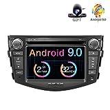 Freeauto - Autoradio stereo Android 9.0, schermo multi-touch da 7 pollici, 2 GB ROM, 32 GB ROM, lettore DVD multimediale, supporta WiFi, Bluetooth, GPS, controllo del volante per Toyota RAV4 2006-2012