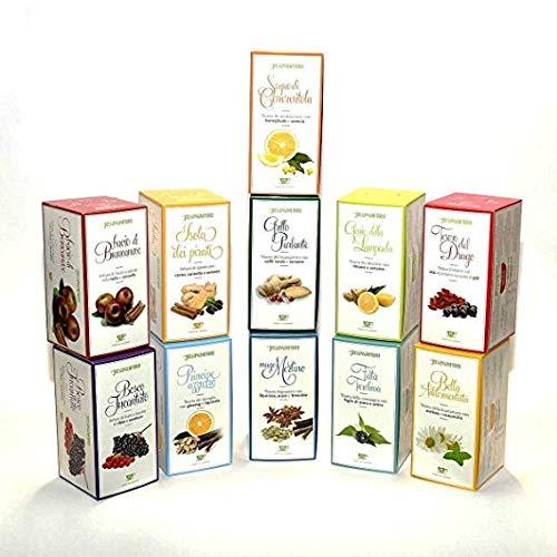 Collezione completa di Tisane Regina di Fiori 12 Confezioni da 15 filtri - Tutti i gusti e i sapori delle tisane delle fiabe: una selezione completa per ogni momento della giornata