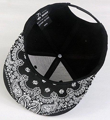 Imagen de aivtalk  negro sombrero de hip hop  de béisbol snapback ajustable moda hat ajustable para hombre mujer alternativa