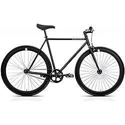 Bicicleta FB FIX2 black. Monomarcha fixie / single speed. Talla 53