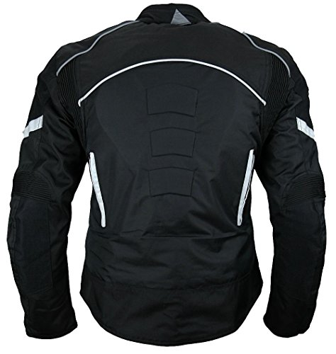 Heyberry Damen Motorradjacke Kurz Textil Schwarz Weiß Gr. S / 36 - 3