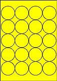 200 Etiketten Farbetiketten selbstklebend rund 50 mm GELB permanent klebend