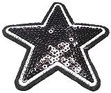 Strass Glitzer Sterne Aufnäher Aufbügler Bügelbilder Sticker Iron on Patches Applikation mit Pailletten für Textilien Kleider Frauen zum aufbügeln