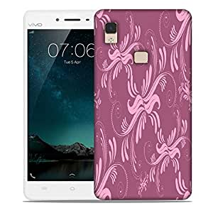 Snoogg Abstract Marron Pattern Design Designer Protective Phone Back Case Cover For Vivo V3 Max