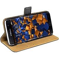 mumbi Etui Cuir Samsung Galaxy S7 Edge en Book Style - Etui à Clapet Portefeuille Étui Housse Protecteur Pochette Bookstyle noir / Pied Pivotant