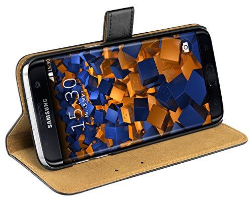 Preisvergleich Produktbild mumbi Ledertasche im Bookstyle für Samsung Galaxy S7 Edge Tasche