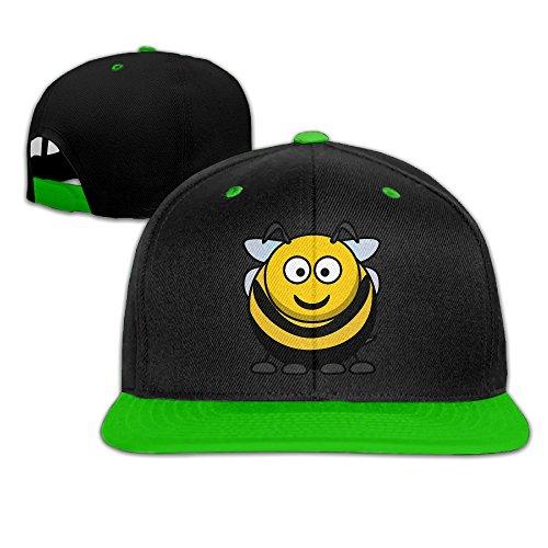 kakakaoo-grasa-abeja-hip-hop-brim-sombrero-gorra-plana-bill-cap-blanco