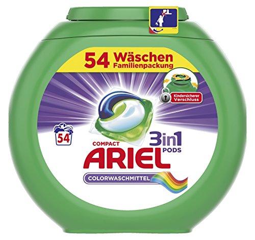 Ariel 3in1 Pods Colorwaschmittel, 1er Pack (1x 54 Waschladungen)