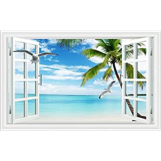 Willsego 3d tridimensionali muro adesivi false finestre nella stanza da salotto sfondo sfondo muro adesivi adesivi adesivi creativo autoadesivi impermeabile,due,piccolo (Color : In, Size : Quattro)