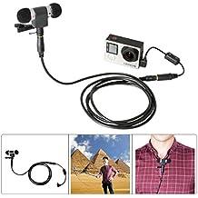 Fantaseal® Direccional Kit de Micrófono Estéreo con Cable de extensión Reducción de ruido Anti-interferencia núcleo de ferrita filtro para GoPro, Micrófono para GoPro Hero 4 / 3+ / 3