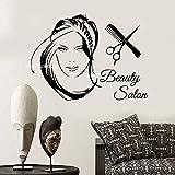 yaoxingfu Nouveau Salon De Beauté Logo Fille Stickers Muraux Vinyle Home Decor Art...