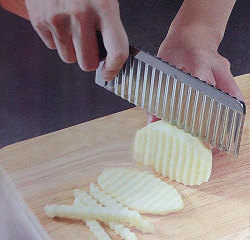 ReadiMax £ ¨ TM) cuchillo de Wavy con bordes de patata de acero inoxidable cocina Gadget pelador de corte de frutas y verduras Herramientas de Cocina Cuchillos de cocina accesorios