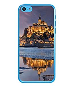PrintVisa Huge Mountain Building High Gloss Designer Back Case Cover for Apple iPhone 5c