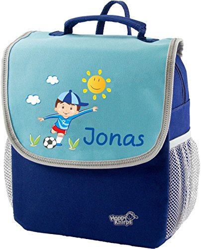 Mein Zwergenland Kindergartenrucksack Happy Knirps Next mit Name Junge, 6L, Blau