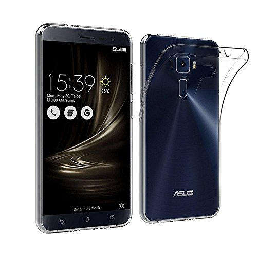 PES Perfect Perfect Fitting High Quality 0.3mm Ultra Thin Transparent Silicon Back Cover For Asus Zenfone 3 Deluxe ZS570KL