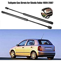 Car Tailgate Gas Struts, Pair of Rear Trunk Tailgate Lift Supports Iron & Rubber Gas Spring Struts Black for 1999-2007 6Y0827550A