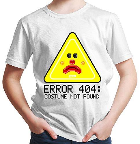 HARIZ  Jungen T-Shirt Error 404 Costume Not Found Karneval Verkleidung Inkl. Geschenk Karte Weiß 116/5-6 Jahre