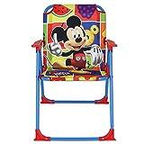 Klappstuhl Kinder mit Motivauswahl - Campingstuhl - Kinder Standstuhl - Kinderstuhl - Kinder Gartenstuhl (Mickey Mouse)