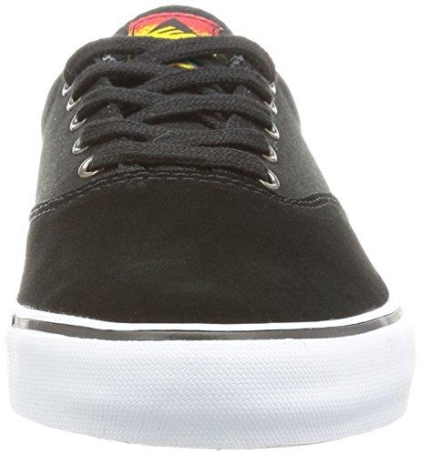 Emerica Provost Slim Vulc, Skateboard homme Noir (Black White Green 898)