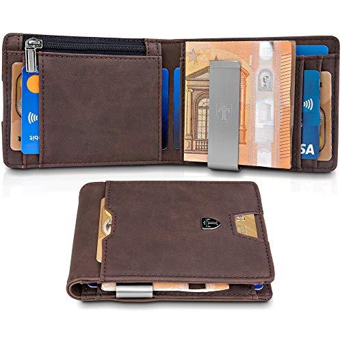 d25a87ac33 TRAVANDO ® Portafoglio uomo piccolo con protezione, usato usato Spedito  ovunque in Italia