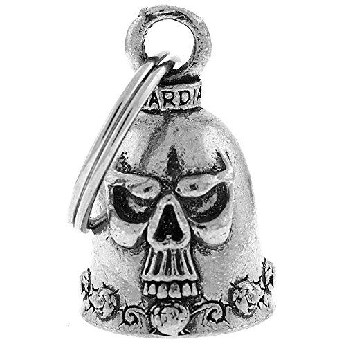 Preisvergleich Produktbild Glöckchen Skull totenkopf Glücksbringer Glocke motorrad Guardian Bell Biker