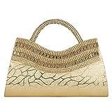 Aadhunik Libaas Party Wear, Fashion Fancy Stylish Women's Hand Bag (Golden)