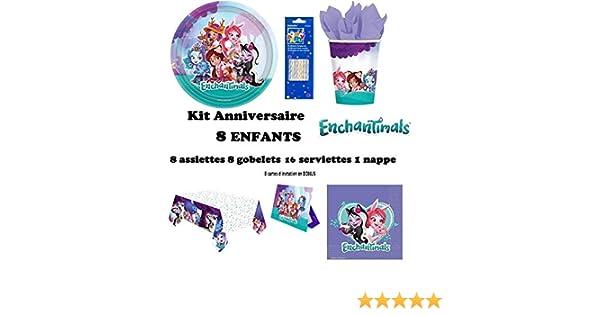 Amscan-9904853 Nappe Plastique Enchantimals 180 x 120cm Multicolor 9904853