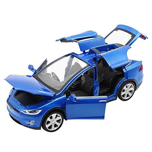 EisEyen Auto-Model für Tesla X 90 1:32 Autolegering mit Ton und Licht auch als Spielzeugauto mit Rückziehfunktion für Kinder Geschenk