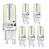 Bogao 5 Pcs G9 LED Light Bulb,3W, Equivalent to 20W Halogen Lamp Replacement,250 LM,AC 220V,64-LEDs 3014 SMD,Warm White (3000K)
