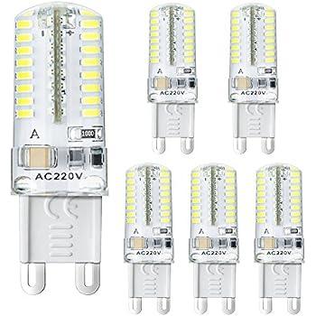 BOGAO 5 pcs G9 Bombilla LED, 3 W, equivalente a 20 W Lámpara halógena