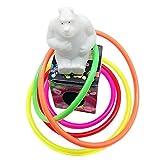 TININNA 10 Anillos Tejos Plastic Set,Juego de Lanzamiento de Anillos Elite. Jardín de juguete Juego al aire libre para Niños y Adultos - El Juego de Lanzamiento de Anillos #1 en Amazon - Para uso interior o al aire libre. - TININNA - amazon.es