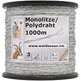 Mono-Litze 1000m, transparent 2** Weidezaunlitze