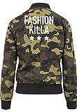 Fashion Killa Bomberjacke Girls Camouflage Certified Freak-M
