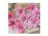 YHGYhbhn Grande 8pcs fiori artificiali albero di natale Decor (rosa)