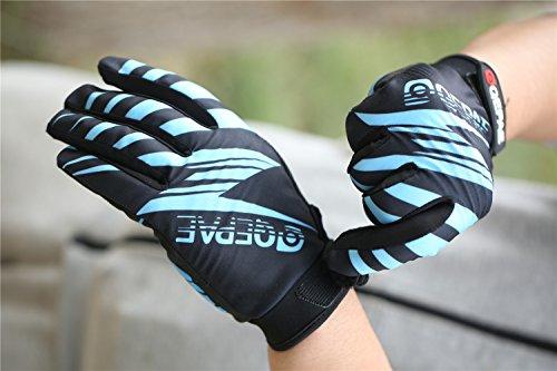 Lerway Winter MTB Handschuhe Gepolstert Race Fahrrad Handschuhe Sporthandschuhe für Radsport ,Outdoor Sport Mountainbike Damen und Herren Gloves (XL, Blau) - 4