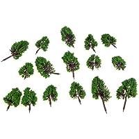 arboles de modelo - SODIAL(R)16pzs HO Z Escala arboles de modelo para Disposicion de Calle Parque Casa Ferrocarril