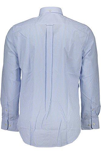 Gant The Poplin Banker Stripe Ls Bd - Chemise de loisirs - Homme Azur