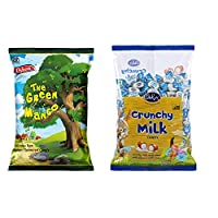 Oshon Green Mango & Crunchy Milk Pouch Combo (Pack of 2)