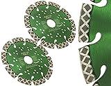 2 Stück Diamant Trennscheibe Ø 115 - 150 mm Typ Magic X für Mauernutfräsen zum Schneiden von Stahlbeton, Granit & KS hart