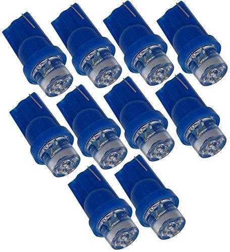AERZETIX: Lot de 10 ampoules T10 W5W 12V à LED (Bleu)