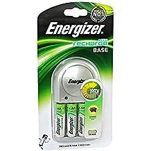 Energizer Base Cargador + 4 AA 1300mAh 1.2V Pre cargado Pilas Recargables